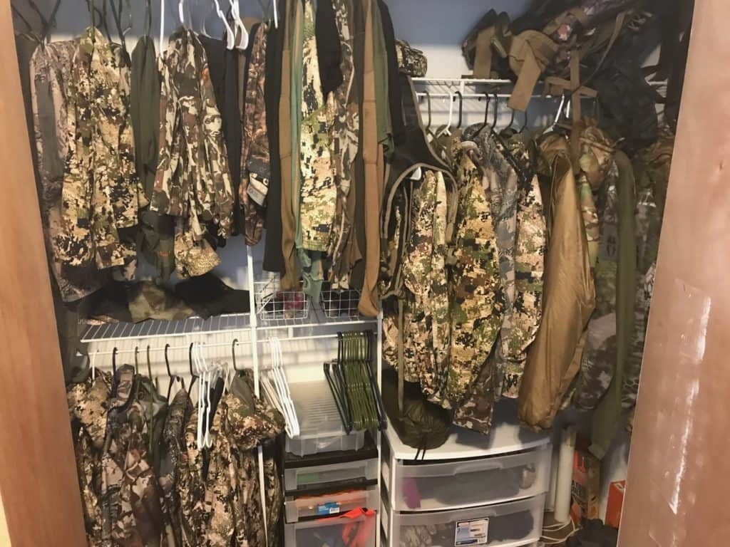 Organizing Your Hunting Gear In One Regular Sized Closet. You Can Do It!